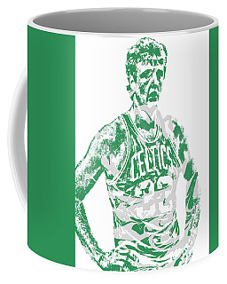 Larry Bird Boston Celtics Pixel Art 6 Coffee Mug