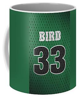Larry Bird Boston Celtics Retro Vintage Jersey Closeup Graphic Design Coffee Mug