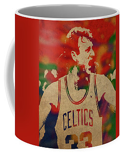 Larry Bird Watercolor Portrait Coffee Mug