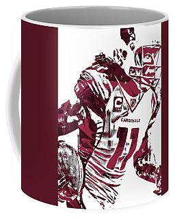 Coffee Mug featuring the mixed media Larry Fitzgerald Arizona Cardinals Pixel Art 1 by Joe Hamilton