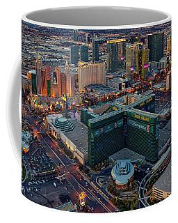 Coffee Mug featuring the photograph Las Vegas Nv Strip Aerial by Susan Candelario