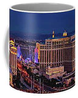 Coffee Mug featuring the photograph Las Vegas Panoramic Aerial View by Susan Candelario