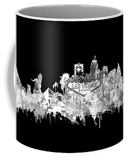Las Vegas Skyline Black Coffee Mug