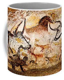 Lascaux Hall Of The Bulls - Deer And Aurochs Coffee Mug