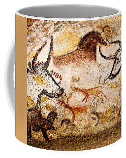 Lascaux Hall Of The Bulls - Deer Between Aurochs Coffee Mug