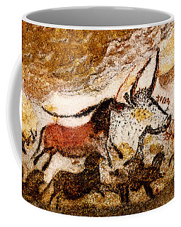 Lascaux Hall Of The Bulls - Horses And Aurochs Coffee Mug