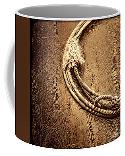 Lasso On Leather Coffee Mug