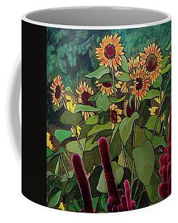 Coffee Mug featuring the painting Last Garden by Ron Richard Baviello