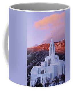 Last Light At Draper Temple Coffee Mug