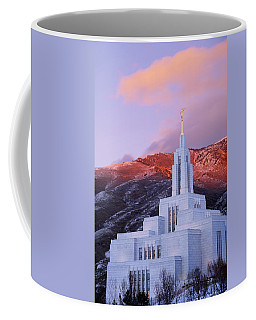 Last Light At Draper Temple Coffee Mug