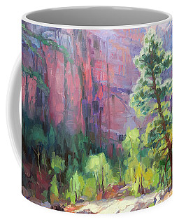 Coffee Mug featuring the painting Last Light In Zion by Steve Henderson