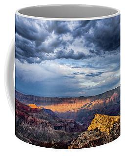 Last Light On Freyas Castle Coffee Mug