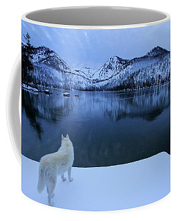 Last Light On Frozen Cascade Lake Coffee Mug by Sean Sarsfield