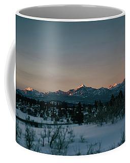 Coffee Mug featuring the photograph Last Light On Pagosa Peak by Jason Coward