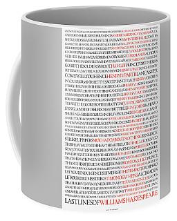 Last Lines Of The Plays Of William Shakespeare Coffee Mug