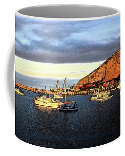 Coffee Mug featuring the photograph Last Rays At The Bay by Nareeta Martin