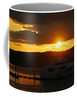 Coffee Mug featuring the photograph Last Sliver Of Light by Living Color Photography Lorraine Lynch