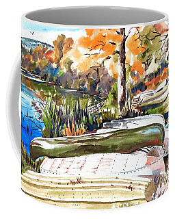Coffee Mug featuring the painting Last Summer In Brigadoon by Kip DeVore
