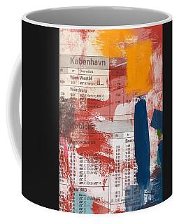 Last Train To Kobenhavn- Art By Linda Woods Coffee Mug