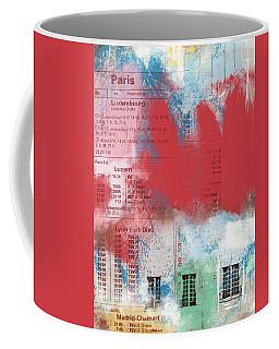 Last Train To Paris- Art By Linda Woods Coffee Mug