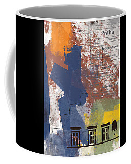 Last Train To Prague- Art By Linda Woods Coffee Mug