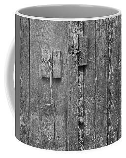 Latch On Garage Door Coffee Mug
