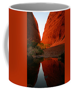 Late Afternoon Light And Reflections At Kata Tjuta In The Northern Territory Coffee Mug