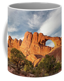 Late Afternoon Light On Skyline Arch Coffee Mug