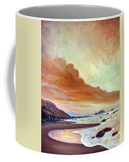 Late Afternoon On San Simeon Beach Coffee Mug