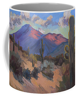 Coffee Mug featuring the painting Late Afternoon Tucson 2 by Diane McClary