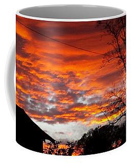 Late Autumn Sunset Coffee Mug