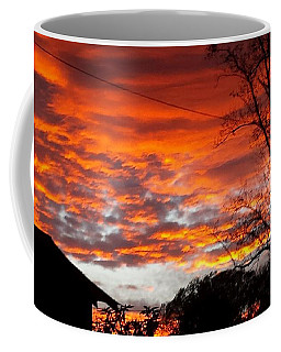 Late Autumn Sunset Coffee Mug