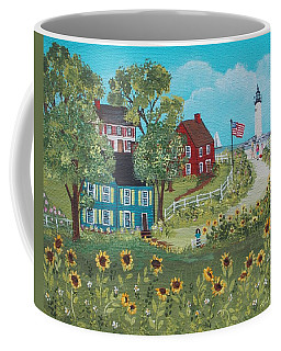 Coffee Mug featuring the painting Late July by Virginia Coyle