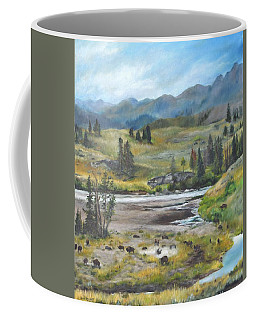 Late Summer In Yellowstone Coffee Mug