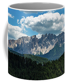 Coffee Mug featuring the photograph Latemar by Andreas Levi