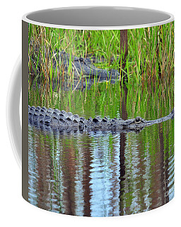 Coffee Mug featuring the photograph Later Gator by Al Powell Photography USA