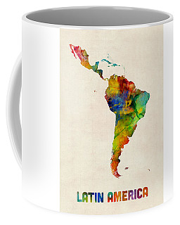 Latin America Watercolor Map Coffee Mug