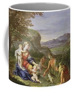 Latona And The Frogs Coffee Mug