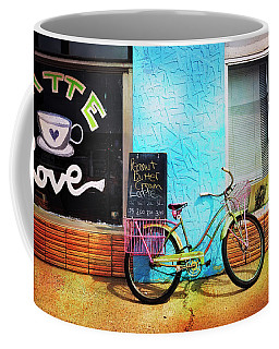 Latte Love Bicycle Coffee Mug by Craig J Satterlee