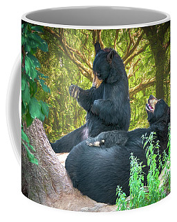 Coffee Mug featuring the painting Laughing Bears by John Haldane