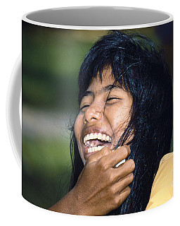 Coffee Mug featuring the photograph Laughing Out Loud by Heiko Koehrer-Wagner