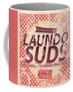 Laundo Soap Suds Advertising Coffee Mug