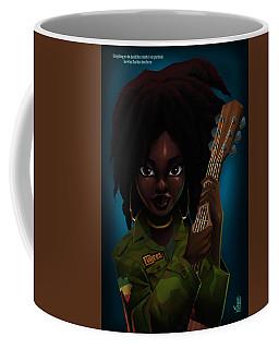 Coffee Mug featuring the digital art Lauryn Hill by Nelson Dedos Garcia