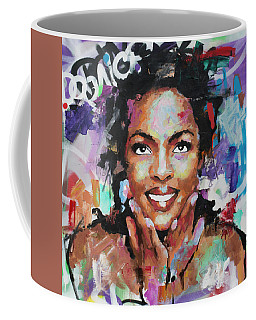 Coffee Mug featuring the painting Lauryn Hill by Richard Day