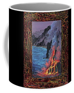Coffee Mug featuring the painting Lava Flow by Darice Machel McGuire