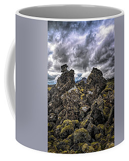 Lava Rock And Clouds Coffee Mug