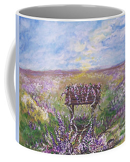 Coffee Mug featuring the painting Lavendar Wishes by Leslie Allen