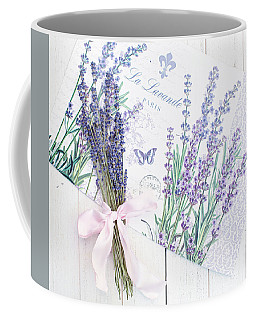 Coffee Mug featuring the photograph Lavende by Rebecca Cozart