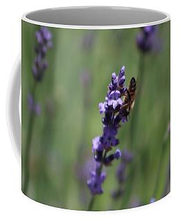 Lavender And Honey Bee Coffee Mug