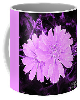 Blue Daisy Twins Lavender Coffee Mug